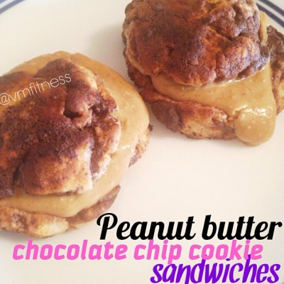 Peanut Butter Chocolate Chip Cookie Quest Sandwiches