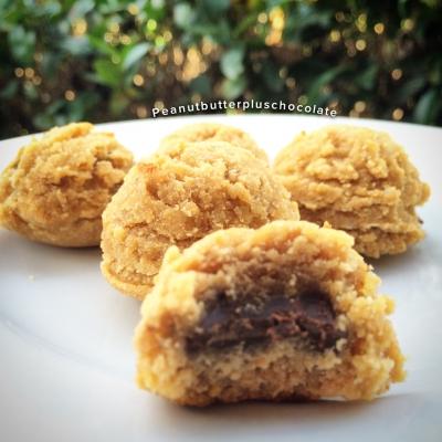Peanut Butter Chocolate Stuffed Cookies