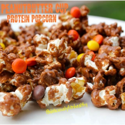 Peanut Butter Cup Protein Popcorn