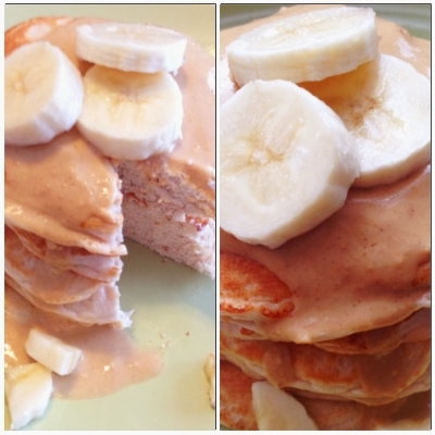 Peanut Butter Fluff Protein Pancakes