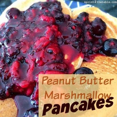 Peanut Butter Marshmallow Protein Pancakes