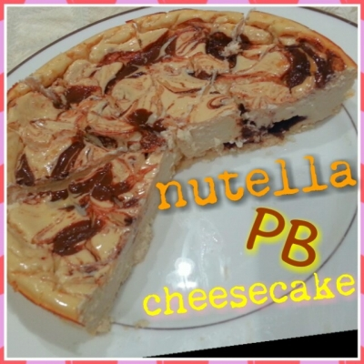 Peanut Butter Nutella Protein Cheesecake