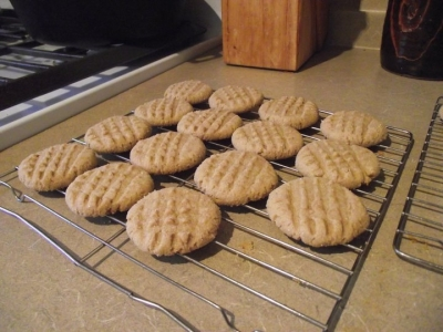 Peanut Butter/Sunflowerseed Butter Cookies