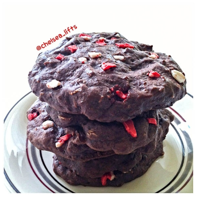 Peppermint Bark Protein Cookies