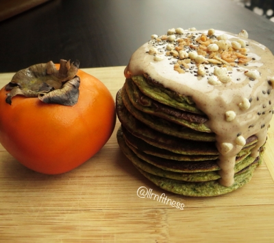 Persimmon Spinach Protein Pancakes