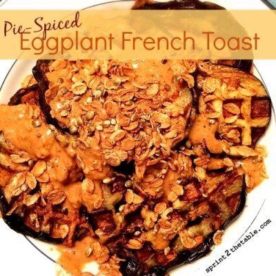 Pie-Spiced Eggplant French Toast (Waffles)
