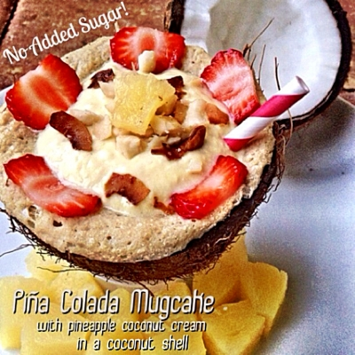 Pina Colada Mugcake With Pineapple Coconutcream