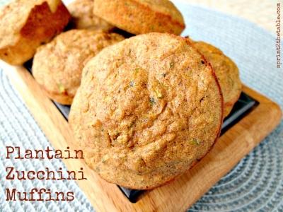 Plantain Zucchini Protein Muffins