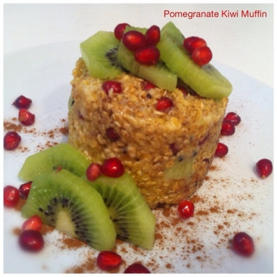 Pomegranate Kiwi Muffin Cup