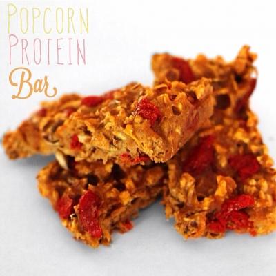 Popcorn Goji Protein Bars