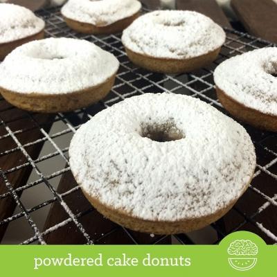 Powdered Sugar Cake Donuts
