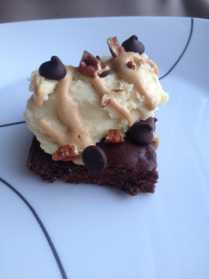 Protein Brownie and Protein Ice Cream