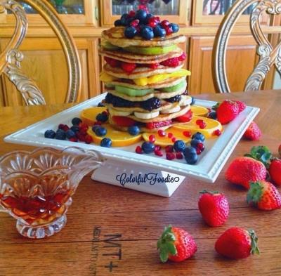 Protein Buttermilk Oatmeal Pancakes
