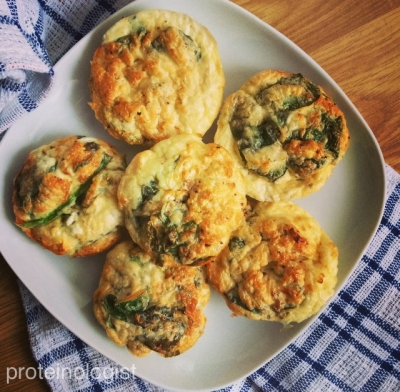Protein Mini Spinach Frittatas
