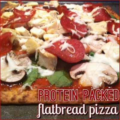Protein Packed Flatbread Pizza