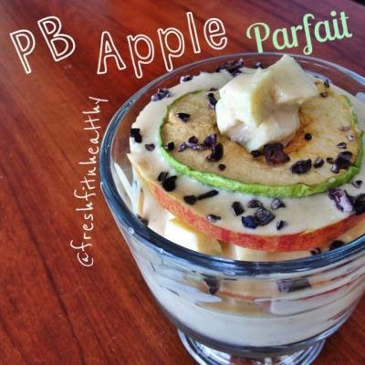 Protein Pb Apple Parfait