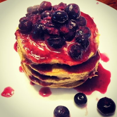 Protein Powder-Less Protein Pancakes