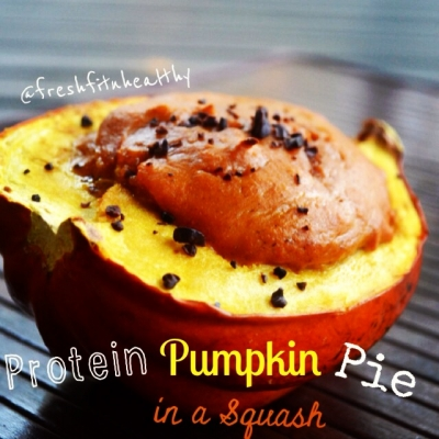 Protein Pumpkin Pie In a Squash