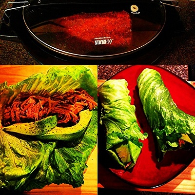 Pulled Pork Avocado Lettuce Wrap