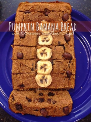 Pumpkin Banana Bread With Brownie Questbar Chips