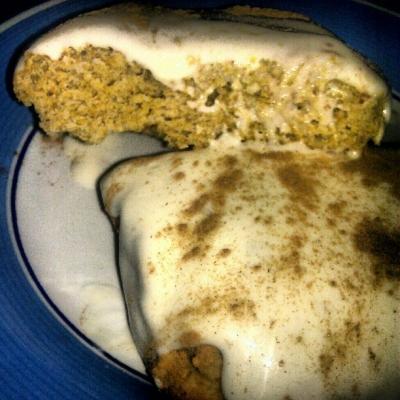 Pumpkin Cake With Vanilla Cream Frosting