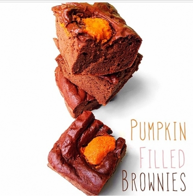 Pumpkin Filled Protein Browines