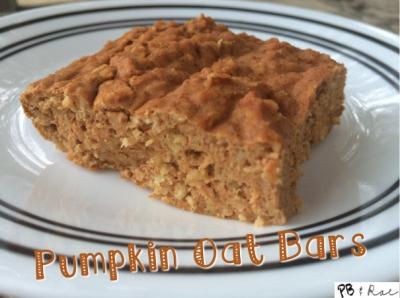 Pumpkin Oat Bars
