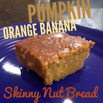 Pumpkin Orange Banana Skinny Nut Bread