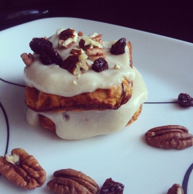 Pumpkin Pecan Raisin Protein Sandwich