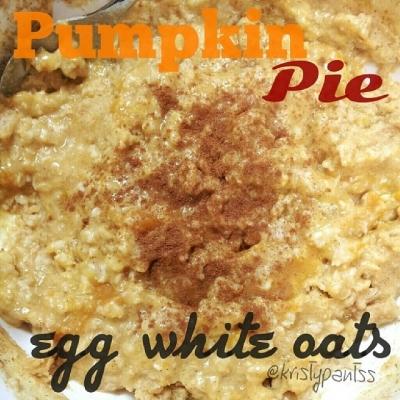 Pumpkin Pie Egg White Oats