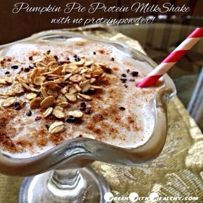 Pumpkin Pie Protein Milkshake (Without Protein Powder!)