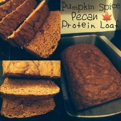 Pumpkin Spice Pecan Protein Loaf
