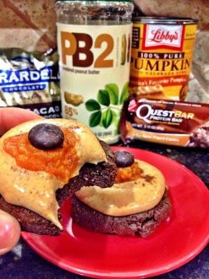 Pumpkin Spice Quest Brownie Bites