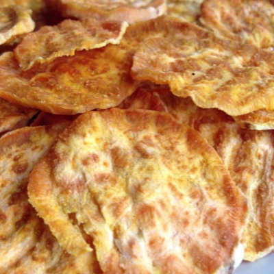 Quick Microwave Sweet Potato Chips