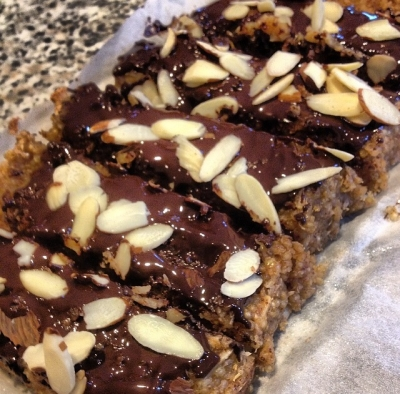 Quinoa Almond Joy Protein Bars