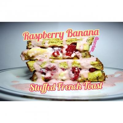 Raspberry Banana Stuffed French Toast