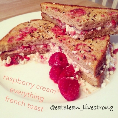 Raspberry Everything Stuffed French Toast