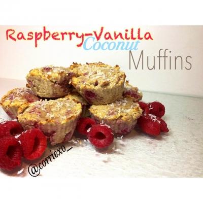 Raspberry-Vanilla Coconut Muffins