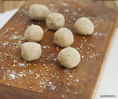 Raw Cake Batter Dough Balls