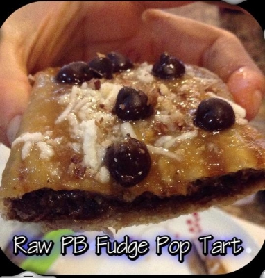 Raw Peanut Butter Fudge Pop Tarts