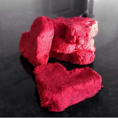 Raw Red Velvet Protein Hearts