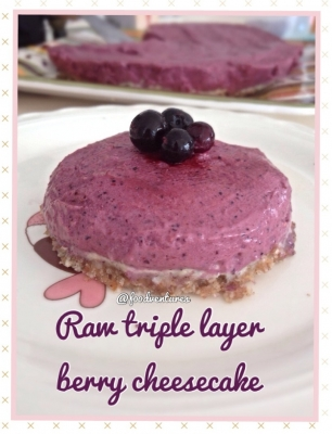 Raw Triple Berry Cheesecake
