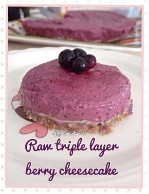 Raw Triple Berry Cheesecake
