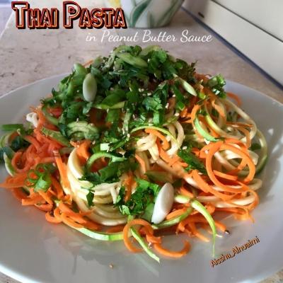 Raw Veganthai Noodles In Peanut Sauce
