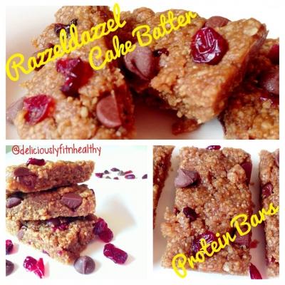 Razzeldazzel Cake Batter Protein Bars
