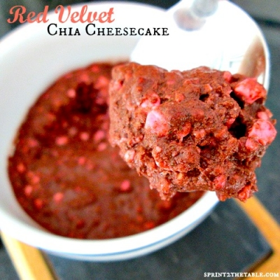 Red Velvet Chia Cheesecake