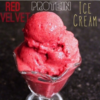 Red Velvet Protein Ice Cream