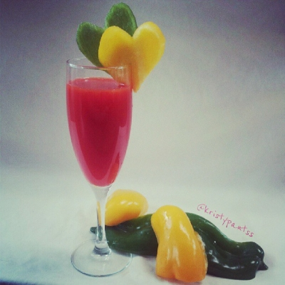 Refreshing Sweet Red Pepper Juice