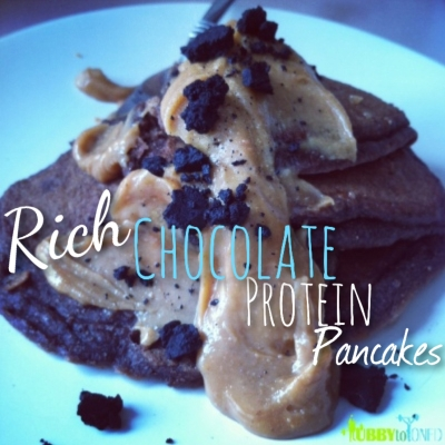 Rich Chocolate Protein Pancakes