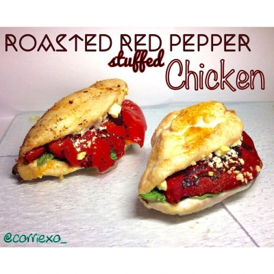 Roasted Red Pepper Stuffed Chicken